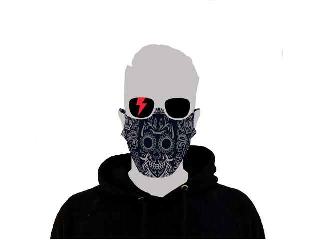 Riesel Design Face Mask los muertos navy blue